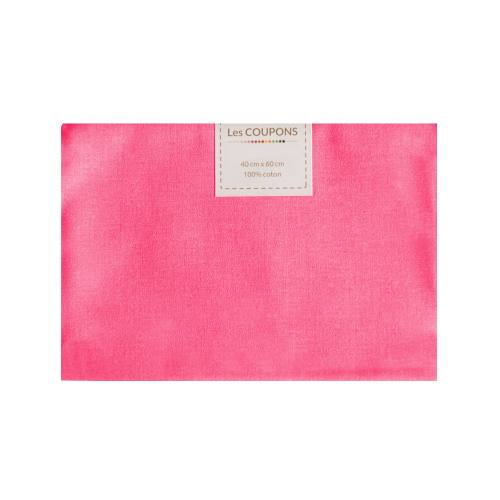 Coupon 40x60 cm coton rose bonbon