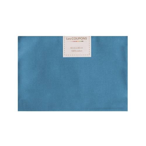 Coupon 40x60 cm coton bleu jean