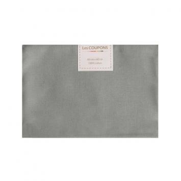 Coupon 40x60 cm coton gris souris