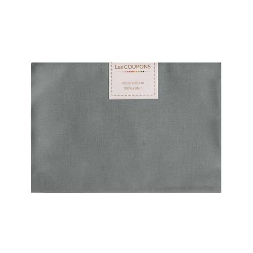 Coupon 40x60 cm coton gris