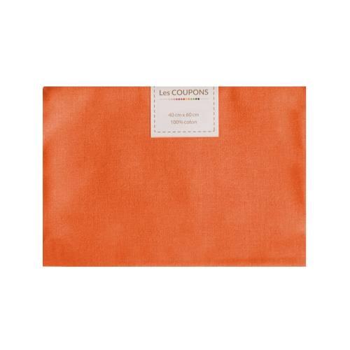 Coupon 40x60 cm coton orange foncé