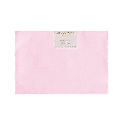 Coupon 40x60 cm coton rose pastel