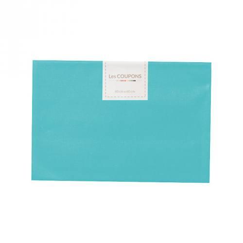 Coupon 40x60 cm coton bleu océan