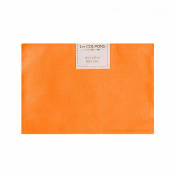 Coupon 40x60 cm coton mandarine