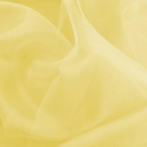 Organza jaune clair