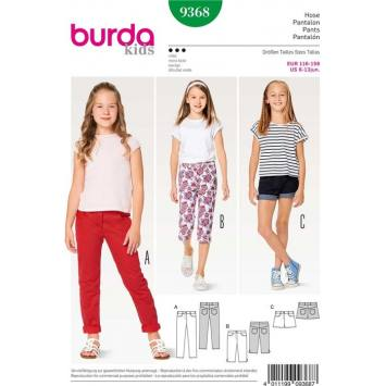 Patron Burda 9368 Pantalon Taille 116-158 cm