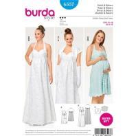 Patron Burda 6557 Robe & Boléro de maternité Taille 34-46