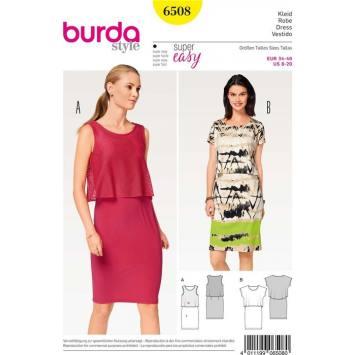Patron Burda 6508 Robe Taille 34-46