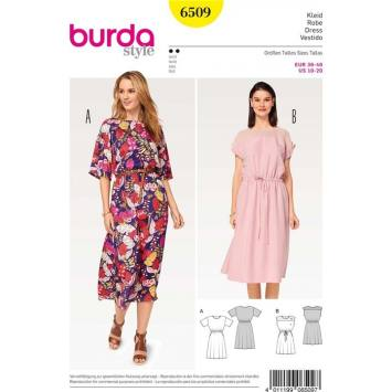 Patron Burda 6509 Robe Taille 36-46