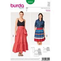 Patron Burda 6514 Jupe Taille 36-46