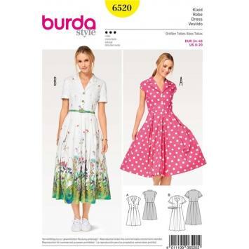 Patron Burda 6520 Robe Taille 34-46