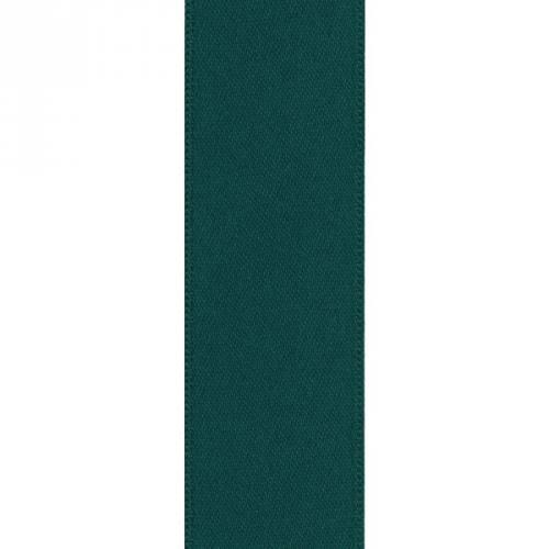 Ruban satin double face vert sapin 39mm