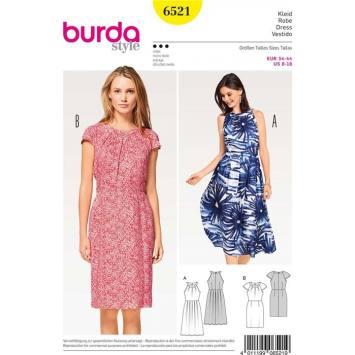 Patron Burda 6521 Robe Taille 34-44