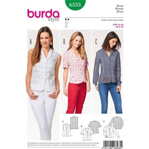 Patron Burda 6533 : Blouse Taille 34-46