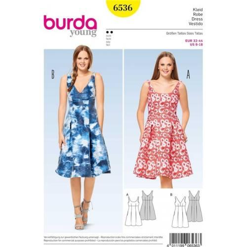 Patron Burda 6536 : Robe Taille 32-44
