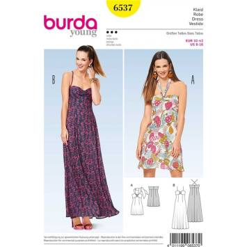 Patron Burda 6537 Robe Taille 32-42