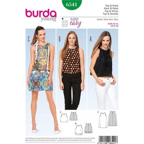 Patron Burda 6541 : Haut & Robe Taille 32-44