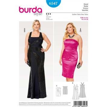Patron Burda 6547 Robe Taille 44-54