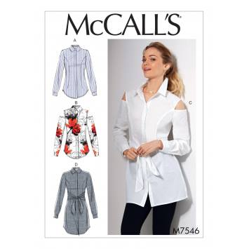 Patron Mc Call's M7546 Chemises pour jeune femme Taille 34-42