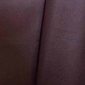 Simili cuir motif points incrustés noir et bordeaux