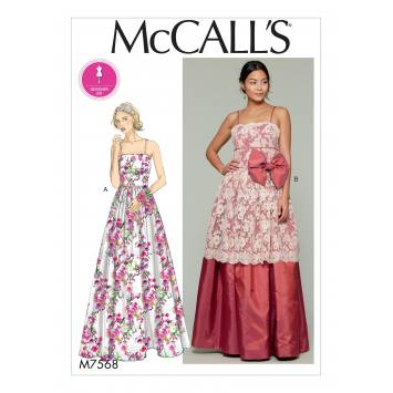 Patron Mc Call's M7568 Robes pour jeune femme 34-42
