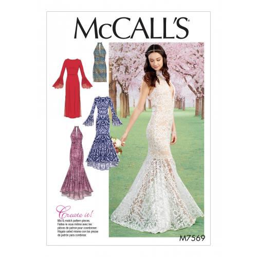 Patron Mc Call's M7569 : Robes pour jeune femme 34-42