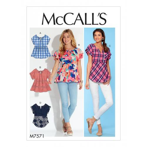 Patron Mc Call's M7571 :Hauts pour jeune femme 42-50