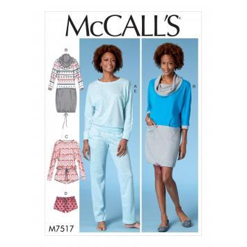 Patron Mc Call's M7517 Robe et ensemble pour jeune femme 32-42