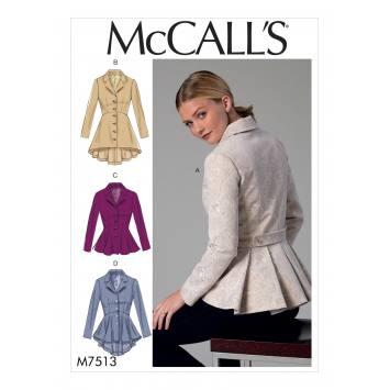 Patron Mc Call's M7513 Vestes pour jeune femme 42-50