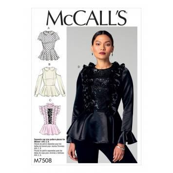 Patron Mc Call's M7508 Hauts pour jeune femme 42-50