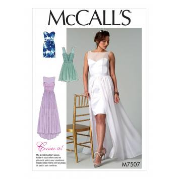 Patron Mc Call's M7507 Robes de mariée pour jeune femme 42-50