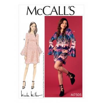 Patron Mc Call's M7505 Robes pour jeune femme 34-42