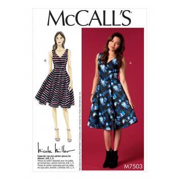 Patron Mc Call's M7503 Robes pour jeune femme 34-42