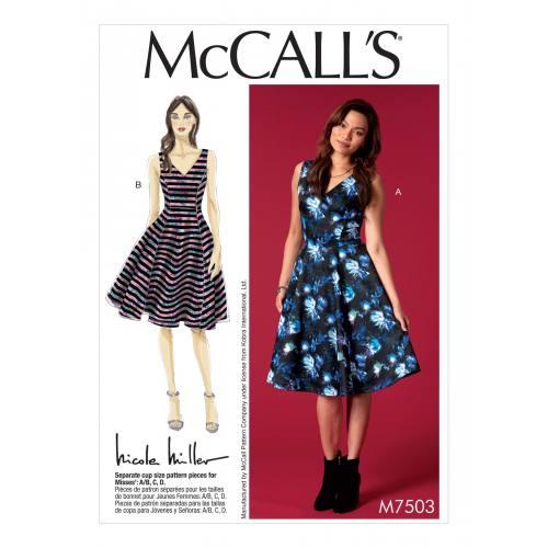 Patron Mc Call's M7503 : Robe pour jeune femme 42-50
