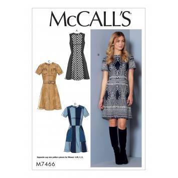 Patron Mc Call's M7466 : Robe et ceinture pour jeune femme 34-42