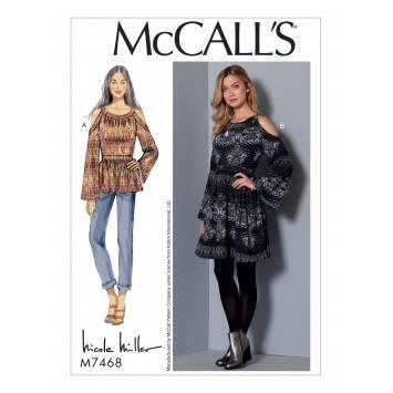 Patron Mc Call's M7468 : Tunique et robes pour jeune femme 34-42