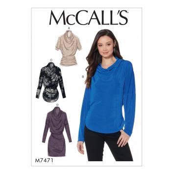 Patron Mc Call's M7471 : Hauts et tunique pour jeune femme 34-42