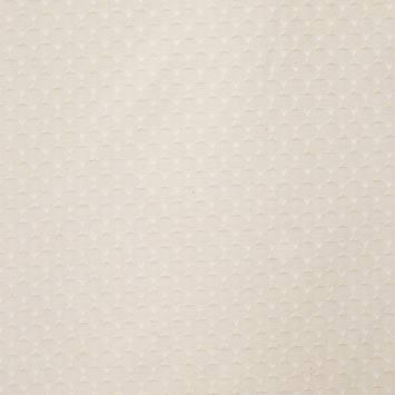 Jacquard piqué écru motif triangle