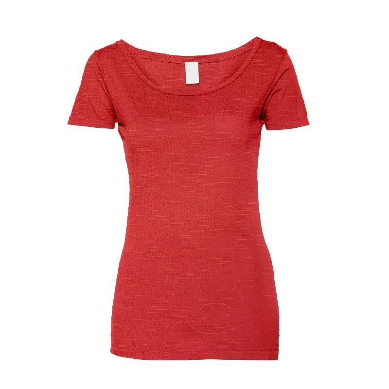Jersey viscose aspect lin rouge