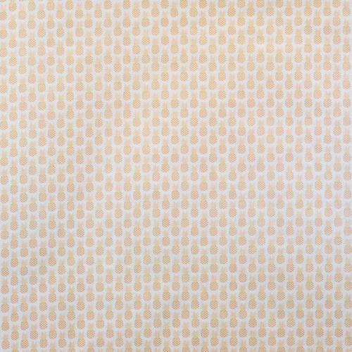 Coton écru imprimé ananas doré