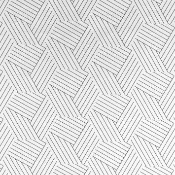 Coton imprimé graphique noir et blanc