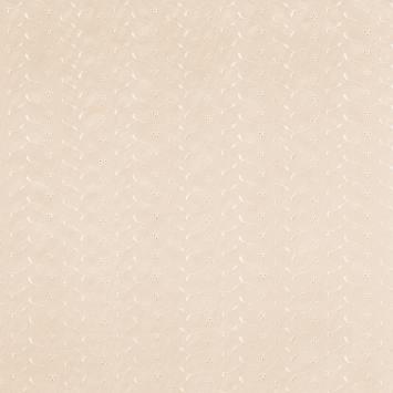 Broderie anglaise crème motif floral scintillant