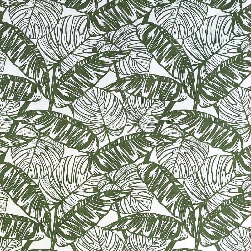 Coton imprimé feuille tropicale pas cher Tissus Price