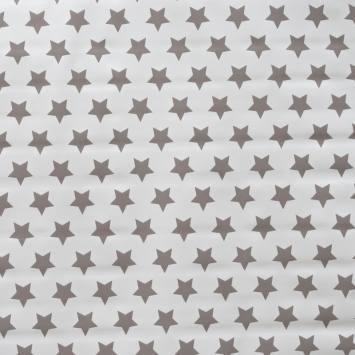 Toile cirée écrue motif étoiles grises