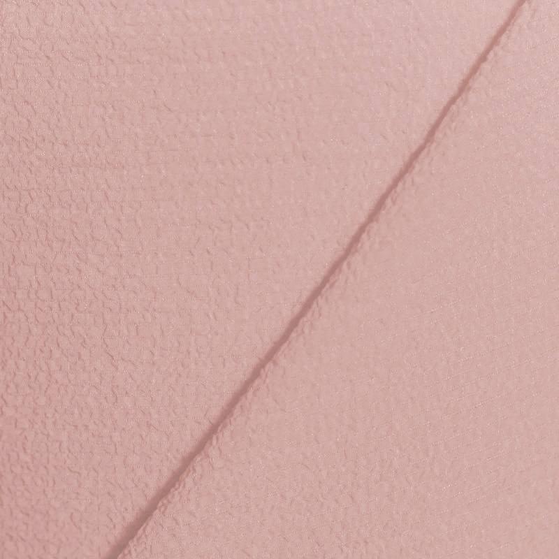 tissu cr pe gaufr rose poudr pas cher tissus price. Black Bedroom Furniture Sets. Home Design Ideas