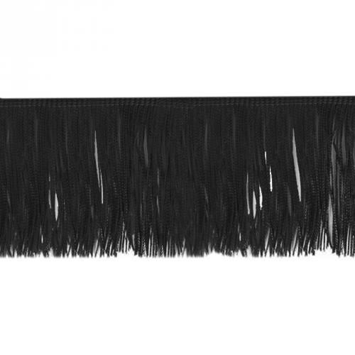 Frange Charleston noire 100mm