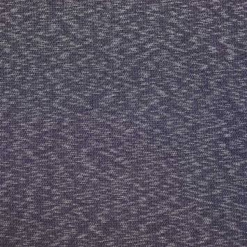 Maille extensible chinée bleu marine
