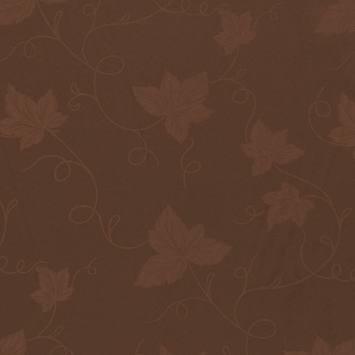 Tissu damassé marron grande largeur motif vigne