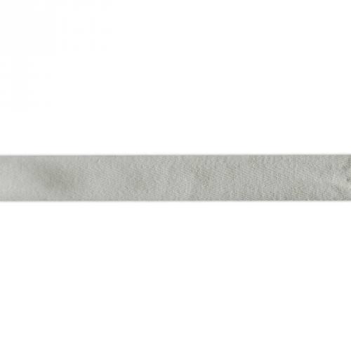 Ruban sergé gris clair 25mm