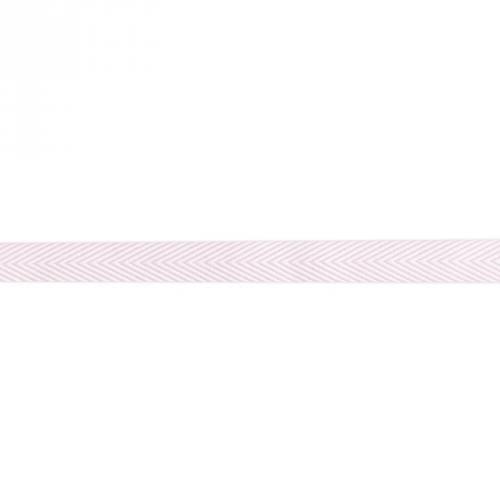 Ruban chevrons rose pastel 18mm